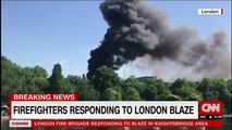 Firefighters respond to blaze at London hotel