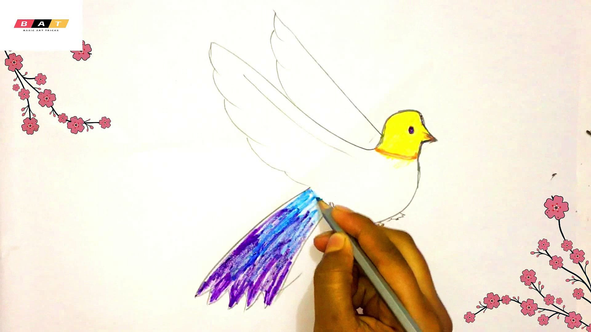 Drawing A Flying Bird Video Dailymotion