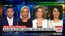 Panel discuss Rudy Giuliani on Stormy Daniels: 'She has no reputation'. #StormyDaniels #RudyGiuliani @anniekarni @MargaretHoover @KirstenPowers