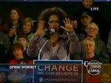 Oprah Campaigns For Obama in Iowa