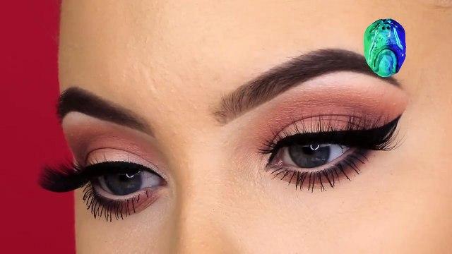 Soft Mauve Winged Liner Makeup Tutorial