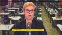 """Suspendre la grève SNCF la semaine du Bac : """"je ne veux pas opposer les grévistes aux lycéens, j'estime que les cheminots sont des gens responsables"""", juge Clémentine Autain #8h30politiquei"""