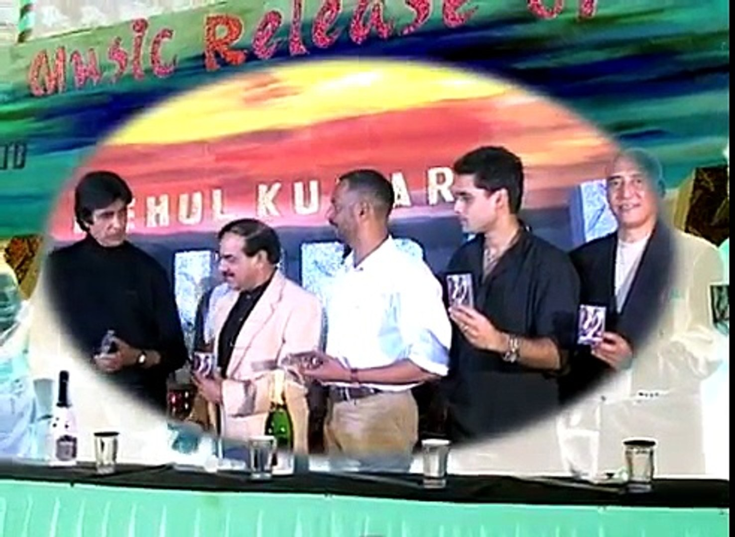 Amitabh Bachchan  Nana Patekar and Danny Denzongpa on  Kohram