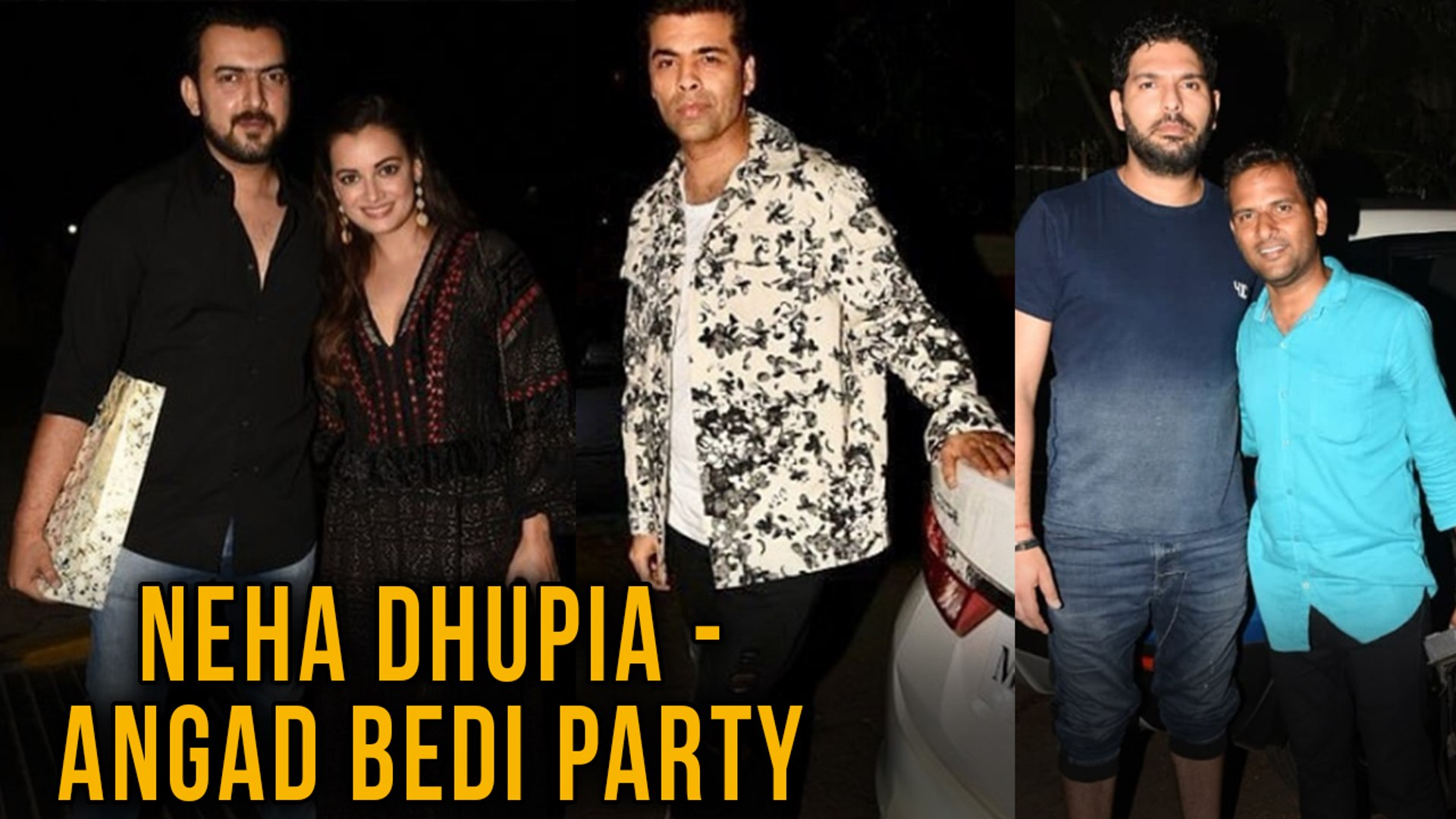 Neha Dhupia - Angad Bedi Host Party For Stars | Karan Johar, Yuvraj Singh And Dia Mirza
