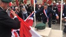 Inauguration d'une stèle à la mémoire du commando Kieffer