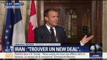 """G7: """"Si les Etats-Unis allaient vers une forme d'isolationnisme ce serait mauvais pour eux"""", déclare Emmanuel Macron"""