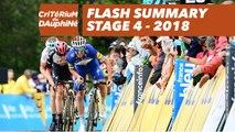 Flash Summary - Stage 4 (Chazey-sur-Ain / Lans-en-Vercors) - Critérium du Dauphiné 2018
