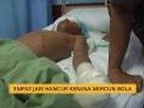 Empat jari hancur kerana mercun bola