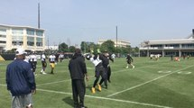 JuJu Smith-Schuster goes through drills at the Steelers OTA's