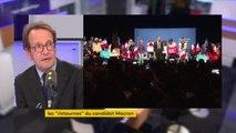 """Comptes de campagne d'Emmanuel Macron : """"Cette polémique n'a strictement aucun sens (...) C'est de la bonne gestion que de négocier les meilleures dates, les meilleures conditions pour obtenir les salles au meilleur prix"""", réagit Gilles Le Gendre"""