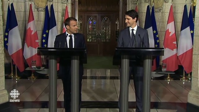 Macron Says 'Nobody Is Forever,' When Asked About Trump