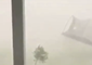 Trampoline Blown Away During Storm in Chuluota, Florida