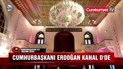 Erdoğan'a canlı yayın desteği: Kağıttan okudu, kopya aldı