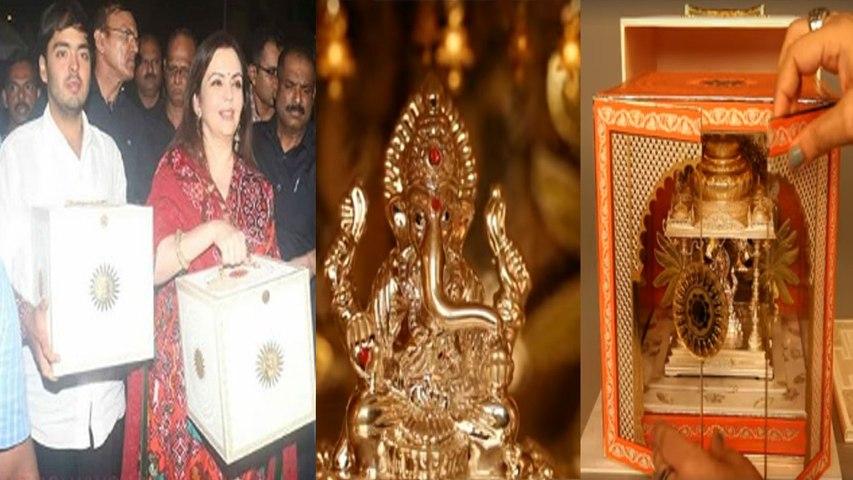 Akash Ambani Shloka Mehta Find Out The Truth Of Gold Wedding Invitation Card Filmibeat