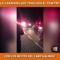 Esta es la caravana que se traslada por la Ruta 5 Sur para llevar hasta Cañete, en la región del Biobío, los restos del cabo Óscar Galindo » T13.cl