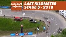 Last kilometer - Étape 5 / Stage 5 (Grenoble / Valmorel) - Critérium du Dauphiné 2018