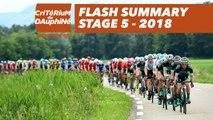 Flash Summary - Stage 5 (Grenoble / Valmorel) - Critérium du Dauphiné 2018