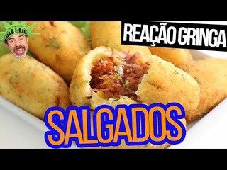 GRINGOS REAGEM A RISOLES, KIBES E MAIS SALGADOS BRASILEIROS