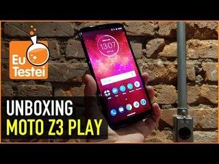 Moto Z3 Play com a nova caixa de som! - Hands on e unboxing