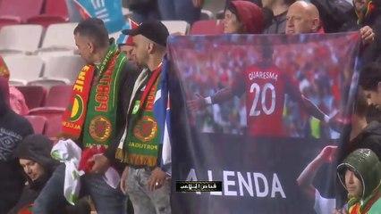 بعد مباراة البرتغال والجزائر- ابن كريستيانو رونالدو يسجل هدف رائع بحضور الدون