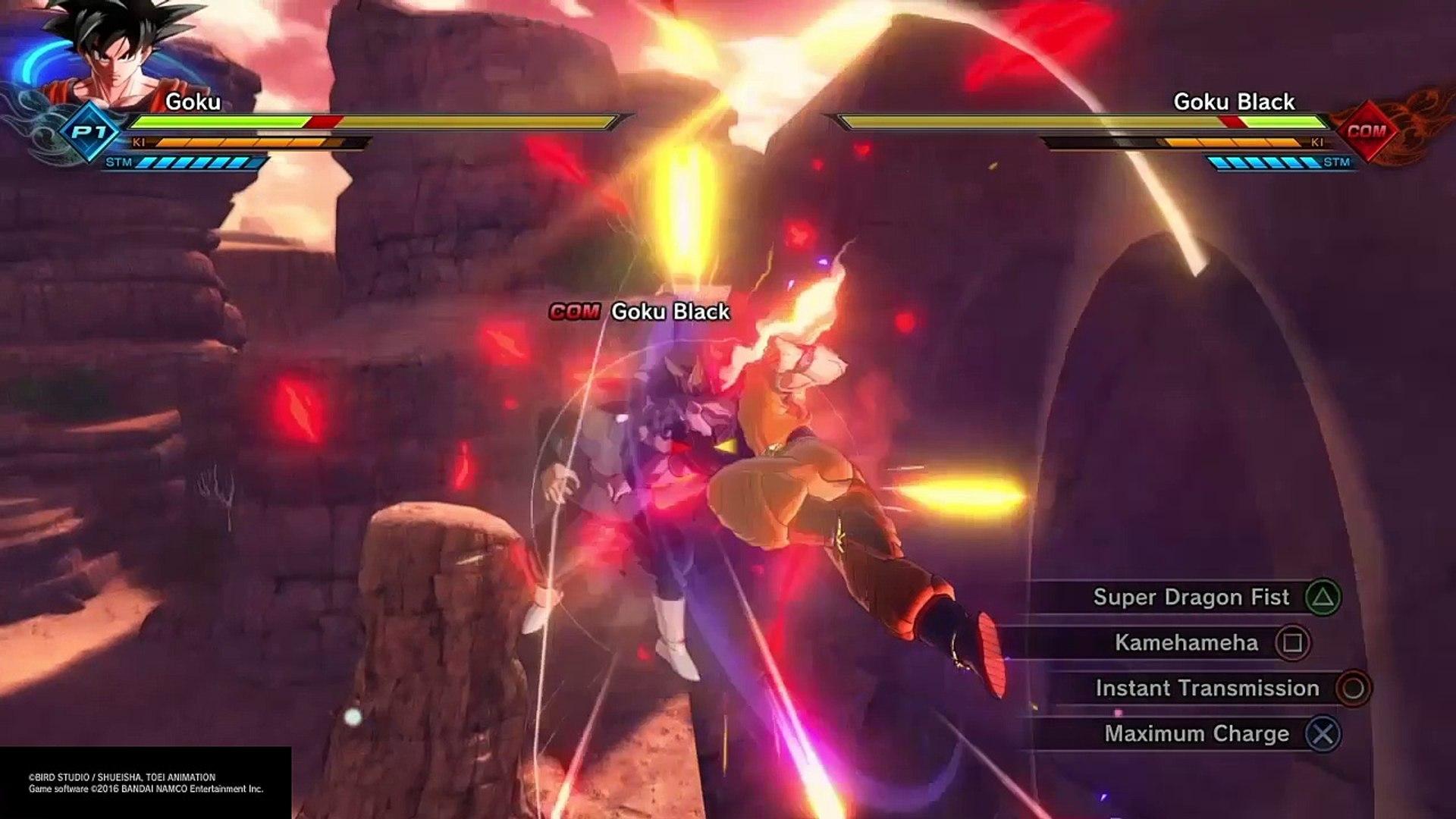 Ssj2 Goku Vs Goku Black Dbx2 Ps4 Gameplay Video Dailymotion
