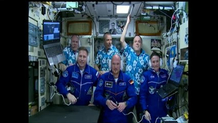 Hatch Opening & Welcome Ceremony for Expedition 56 Crew