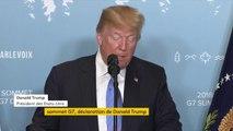 """Sommet du G7 : Donald Trump se félicite de """"discussions très productives"""". Il veut """"protéger l'industrie américaine et les travailleurs américains des pratiques injustes étrangères"""""""
