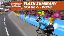 Flash Summary - Stage 6 (Frontenex / La Rosière Espace San Bernardo) - Critérium du Dauphiné 2018