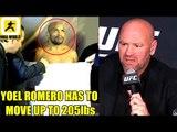 If Yoel Romero defeats Robert Whittaker he should move up to Light Heavyweight,Dana on Brock Lesnar
