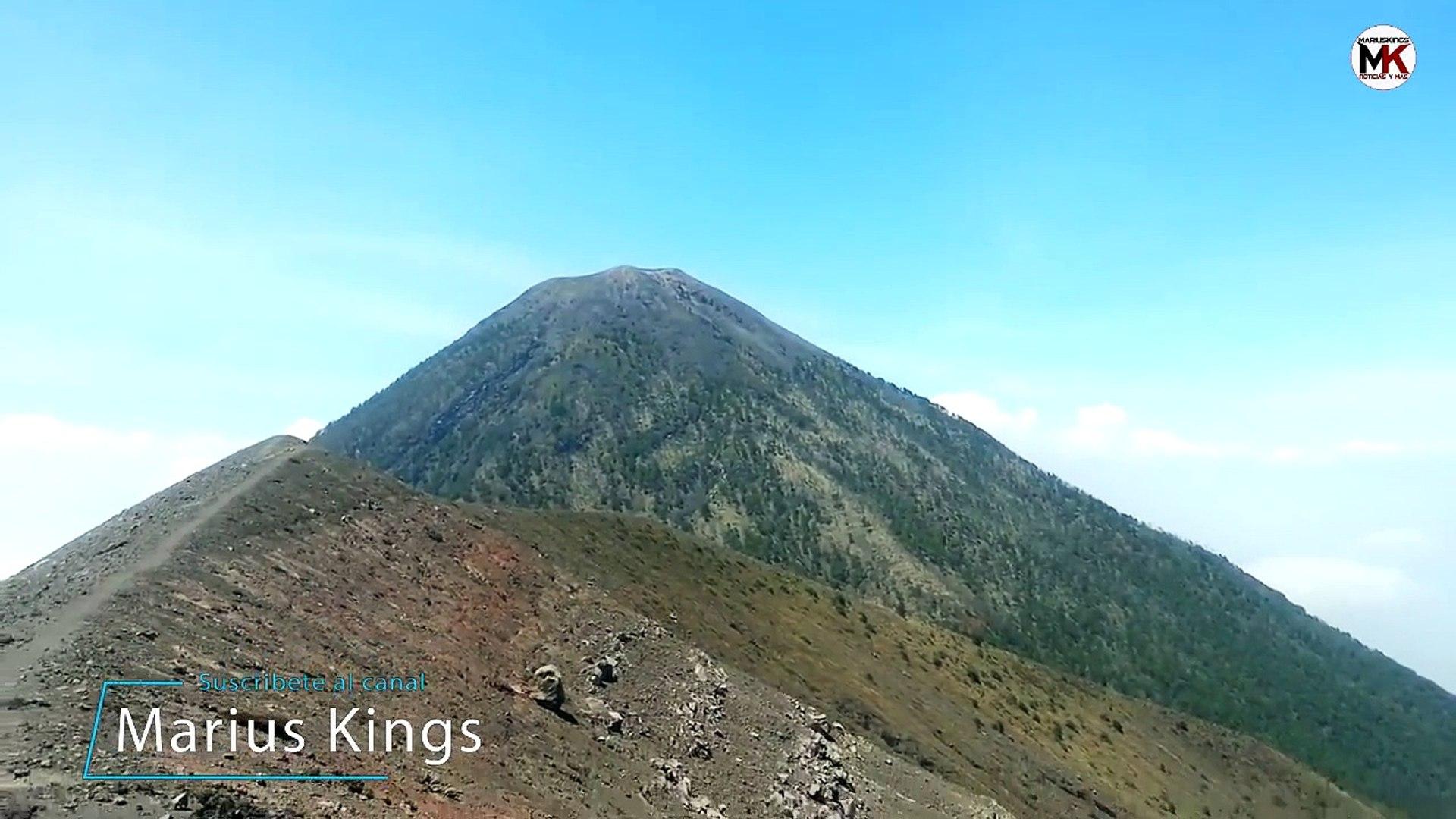 Vídeo Sorprendente del volcán de fuego de Guatemala 2018