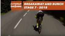Breakaway and bunch - Étape 7 / Stage 7 (Moûtiers / Saint-Gervais Mont Blanc) - Critérium du Dauphiné 2018