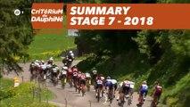 Summary - Stage 7 (Moûtiers / Saint-Gervais Mont Blanc) - Critérium du Dauphiné 2018