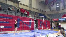 Kelly Aycock Exhibition Bridgeport Uneven Bars 3-12-16