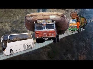 The Most Dangerous Mountain  Route For Busses & Truck