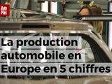 La production automobile en Europe en 5 ciffres clés