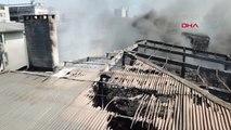 İstanbul Yanan Fabrikadaki Çökmeler Havadan Görüntülendi