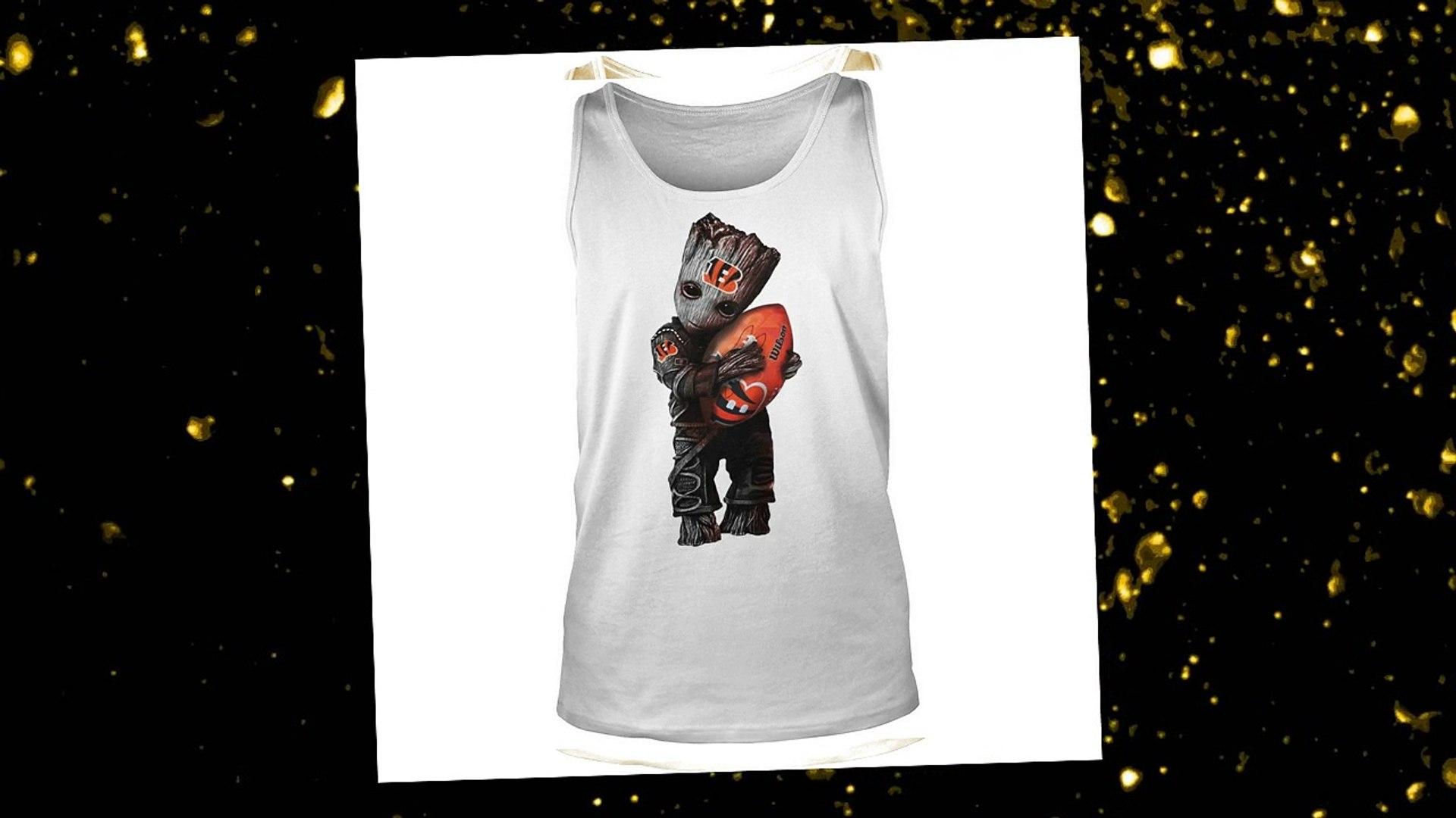 Baby Groot hug Cincinnati Bengals shirt and youth tee