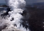 Ocean Waves 'Explode' Into Steam as They Strike Molten Lava in Hawaii