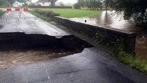 Inondations : Des rues transformées en rivières à Châteaubriant (Loire-Atlantique)