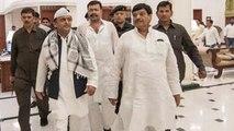 Akhilesh Yadav,Mulayam Singh Yadav और Shivpal Yadav SP के Iftar Party में दिखे एक साथ वनइंडिया हिंदी