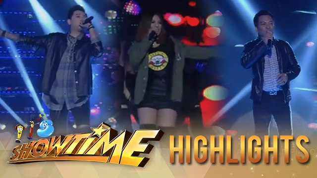 It's Showtime: TNT singers Ato, Mark Michael, and Aila give a powerful performance
