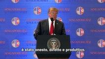 La conferenza stampa di Trump dopo l'incontro con Kim