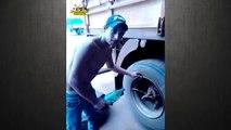 Changer un pneu de camion à main nues en 140 secondes !