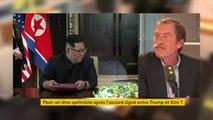 """Accord entre la Corée du Nord et les Etats-Unis : """"On peut dire que Kim Jong-un a gagné. Il a réussi à se hisser d'égal à égal avec l'ennemi héréditaire et la première puissance mondiale"""", estime Dorian Malovic, chef du service Asie à La Croix"""