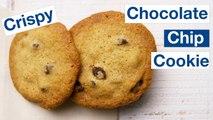 Buttery Crispy Chocolate Chip Cookie Recipe.