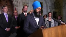 Jagmeet Singh: Canada must unite against 'bullying tactics'