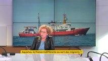 """#Aquarius """"Les ports de la France sont plus loin, ça s'appelle la géographie (...) Il faut qu'on traite au fond ce sujet avec les italiens, sinon hélas, il y aura d'autres Aquarius"""" répond Muriel Pénicaud : """"il faut imposer la solidarité européenne"""""""