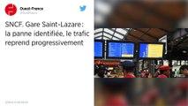 """SNCF. Gare Saint-Lazare: Un """"défaut électrique"""" à l'origine de la panne, le trafic reprend progressivement."""