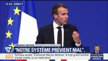 """Politique sociale: """"Quand ceux qui réussissent ne veulent pas regarder ceux laissés au bord du chemin, dans quelle société veulent-il vivre?"""", interroge Macron"""