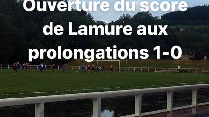 Finale de la coupe Magat: but de Lamure en prolongations